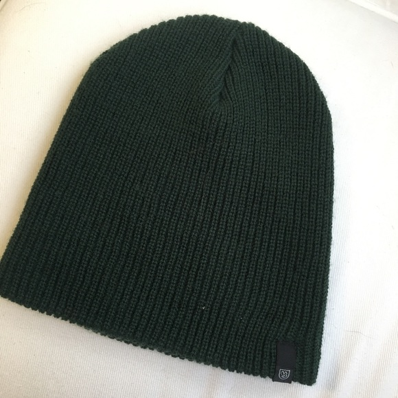 30b2c3e4bee Brixton Accessories - Brixton Dark Green Knit Beanie